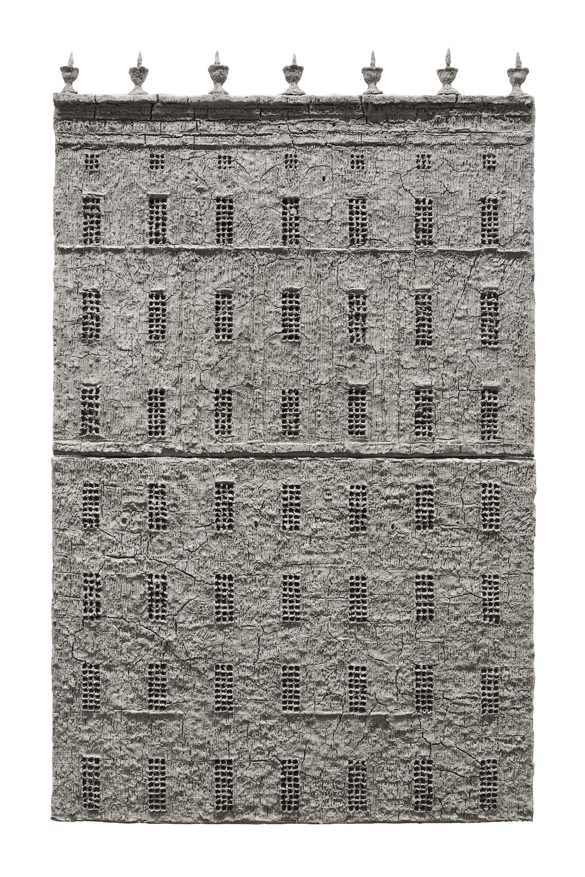 ALEXANDER BRODSKY-UNTITLED-2014-UNFIRED CLAY-98X150CM-COURTESY THE ARTIST AND BETTS PROJECT